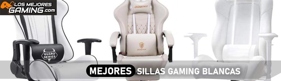 Mejores sillas gaming blancas